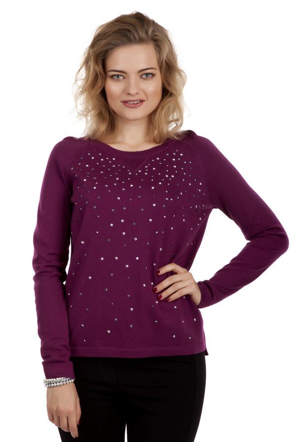 Пуловер Betty BarclayПуловеры<br>Модный бордовый пуловер Betty Barclay прямого кроя. Изделие дополнено: круглым вырезом и длинными рукавами. Пуловер декорирован стразами.<br><br>Размер RU: 52<br>Пол: Женский<br>Возраст: Взрослый<br>Материал: полиамид 22%, вискоза 47%, хлопок 31%<br>Цвет: Бордовый