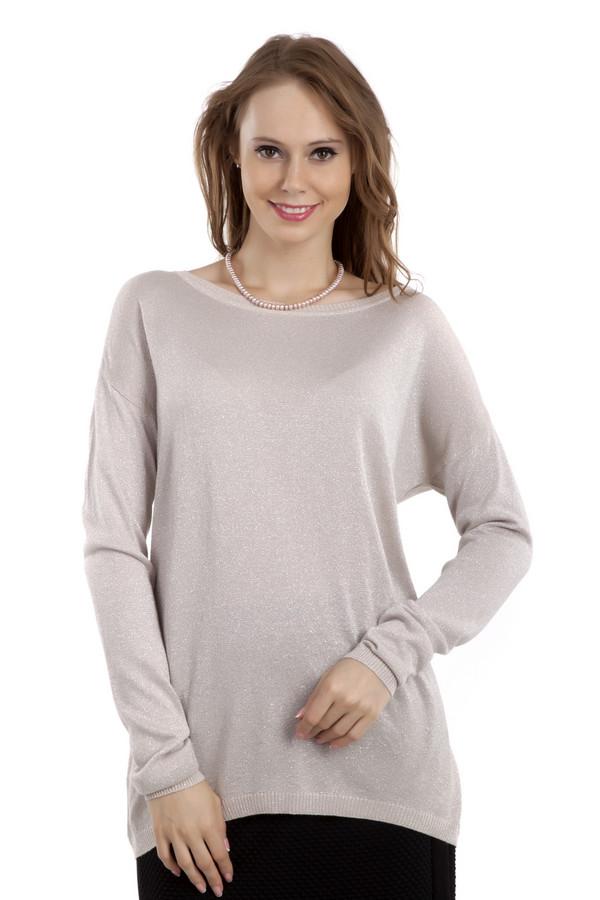 Пуловер Betty BarclayПуловеры<br>Светло-серый пуловер Betty Barclay с люрексом свободного кроя. Изделие дополнено: вырезом-лодочка, классическими рукавами кимоно и удлиненной спинкой. Добавит нотку нежности и женственности повседневному образу и прекрасно будет смотреться с  леггинсами  и  джинсами .<br><br>Размер RU: 46<br>Пол: Женский<br>Возраст: Взрослый<br>Материал: полиэстер 15%, вискоза 77%, полиамид 8%<br>Цвет: Серебристый