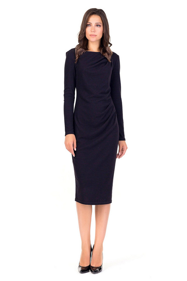Платье XARIZMASПлатья<br><br><br>Размер RU: 44<br>Пол: Женский<br>Возраст: Взрослый<br>Материал: эластан 6%, полиэстер 69%, вискоза 25%<br>Цвет: Чёрный