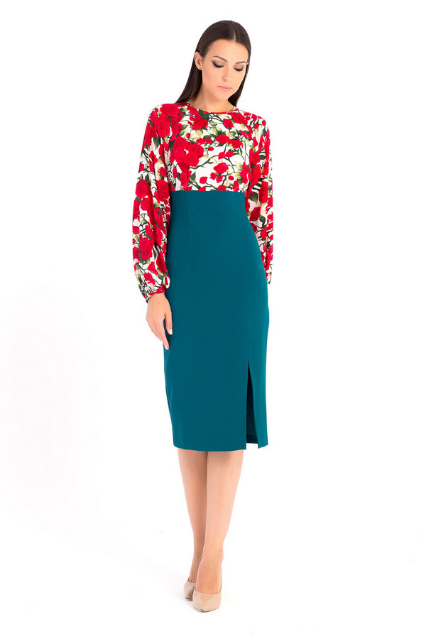 Платье XARIZMASПлатья<br><br><br>Размер RU: 48<br>Пол: Женский<br>Возраст: Взрослый<br>Материал: эластан 5%, вискоза 30%, полиэстер 65%<br>Цвет: Разноцветный