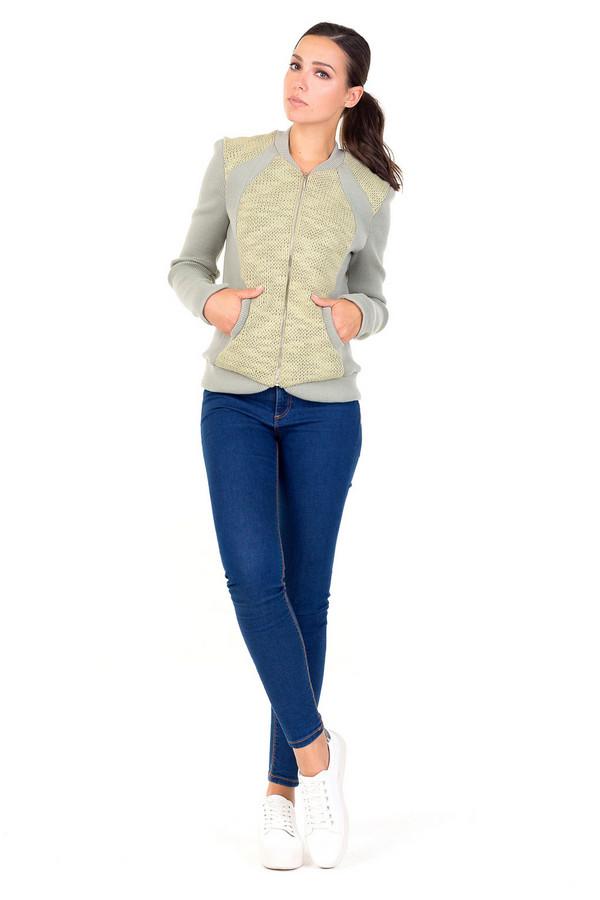 Куртка XARIZMASКуртки<br><br><br>Размер RU: 44<br>Пол: Женский<br>Возраст: Взрослый<br>Материал: эластан 10%, вискоза 20%, акрил 70%, Состав_подкладка полиэстер 100%<br>Цвет: Жёлтый