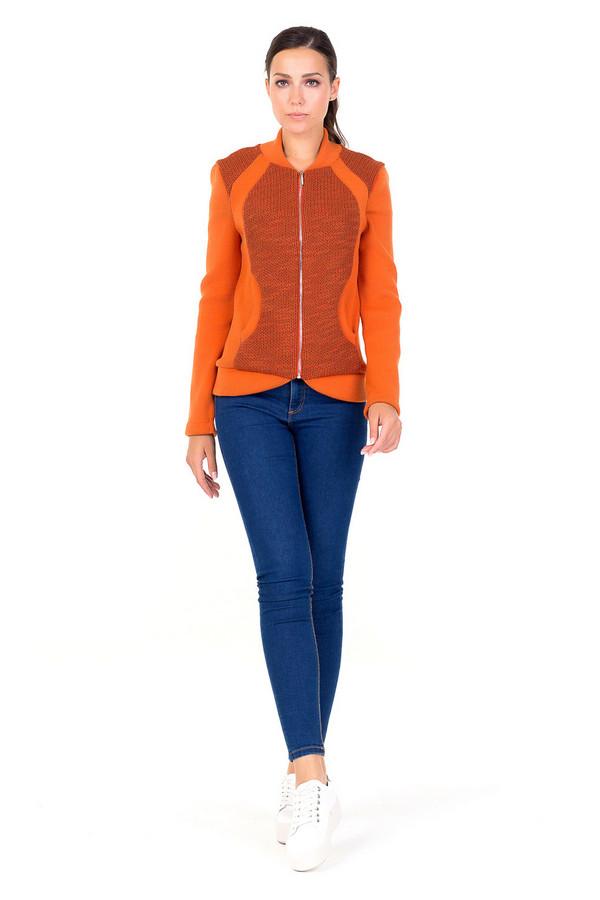 Куртка XARIZMASКуртки<br><br><br>Размер RU: 44<br>Пол: Женский<br>Возраст: Взрослый<br>Материал: эластан 10%, вискоза 20%, акрил 70%, Состав_подкладка полиэстер 100%<br>Цвет: Оранжевый