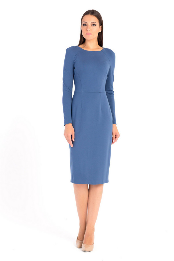 Платье XARIZMAS<br><br>Размер RU: 42<br>Пол: Женский<br>Возраст: Взрослый<br>Материал: эластан 5%, полиэстер 35%, вискоза 60%<br>Цвет: Синий