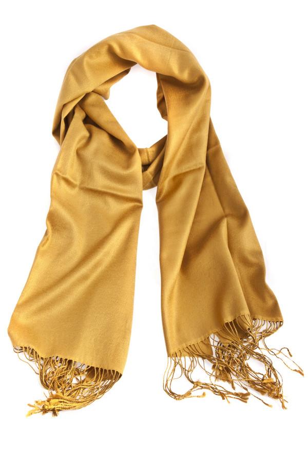 Шарф PassigattiШарфы<br>Солнечный шарф Passigatti теплого желтого цвета. Изделие дополнено бахромой на концах и выполнено из качественного материала.<br><br>Размер RU: один размер<br>Пол: Женский<br>Возраст: Взрослый<br>Материал: шерсть 45%, шелк 55%<br>Цвет: Жёлтый