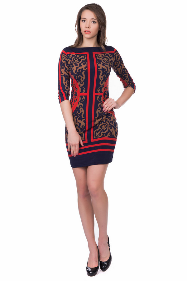 Платье Just ValeriПлатья<br><br><br>Размер RU: 44<br>Пол: Женский<br>Возраст: Взрослый<br>Материал: эластан 8%, полиэстер 92%<br>Цвет: Разноцветный