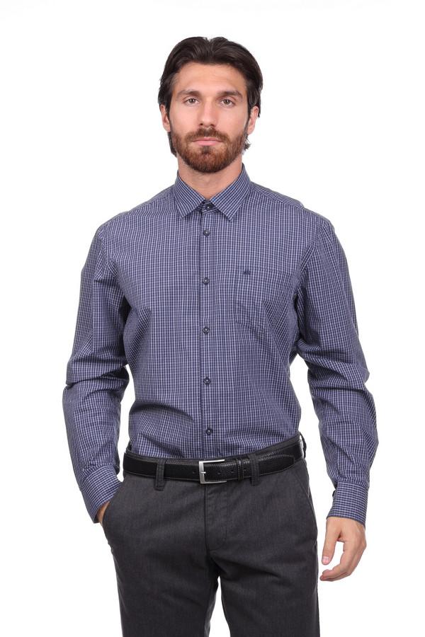 Рубашка с длинным рукавом LerrosДлинный рукав<br><br><br>Размер RU: 43-44<br>Пол: Мужской<br>Возраст: Взрослый<br>Материал: хлопок 100%<br>Цвет: Синий