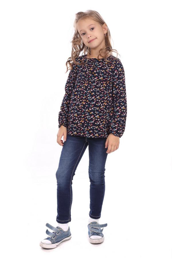 блузка tom tailor для девочки, синяя