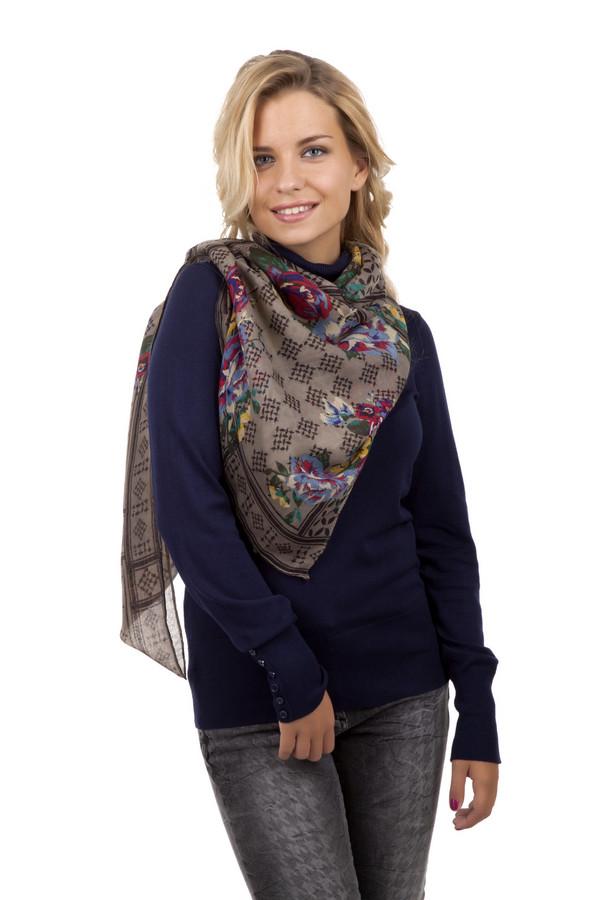 Платок PassigattiПлатки<br>Стильный женский платок от бренда Passigatti. Данное изделие изготовлено из 100% полиэстера. Платок представлен в бежевом цвете с ярким цветочным принтом в синем, красном, желтом и зеленом цвете, а также оригинальным орнаментом черного цвета.<br><br>Размер RU: один размер<br>Пол: Женский<br>Возраст: Взрослый<br>Материал: полиэстер 100%<br>Цвет: Бежевый