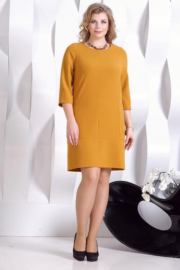 Платье HoroshaПлатья<br><br><br>Размер RU: 48<br>Пол: Женский<br>Возраст: Взрослый<br>Материал: эластан 5%, полиэстер 30%, вискоза 65%<br>Цвет: Жёлтый