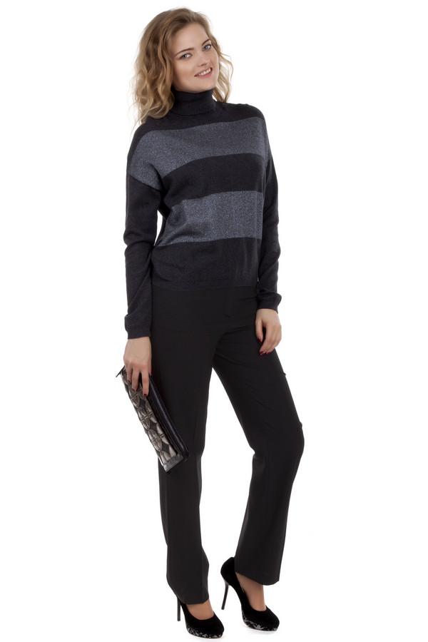 Брюки MicheleБрюки<br>Строгие, классические брюки-дудочки Michele черного цвета. Брюки простые, безо всяких лишних деталей, а потому никогда не выйдут из моды и всегда будут уместны. Стрелки на брюках всегда придают строгости вашему образу, а высокая талия с аккуратным поясом-запахом очень удобна и красиво смотрится под заправленные рубашки и блузы. Брюки такого типа могут себе позволить женщины от самых юных до самых зрелых.<br><br>Размер RU: 44<br>Пол: Женский<br>Возраст: Взрослый<br>Материал: эластан 4%, полиэстер 53%, шерсть 43%<br>Цвет: Чёрный