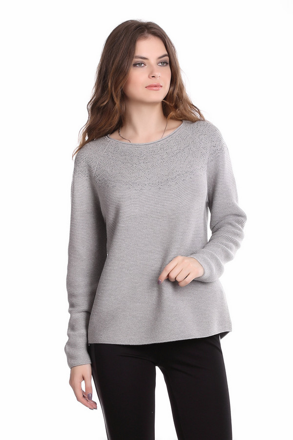 Пуловер MonariПуловеры<br><br><br>Размер RU: 48<br>Пол: Женский<br>Возраст: Взрослый<br>Материал: хлопок 50%, полиакрил 50%<br>Цвет: Серый