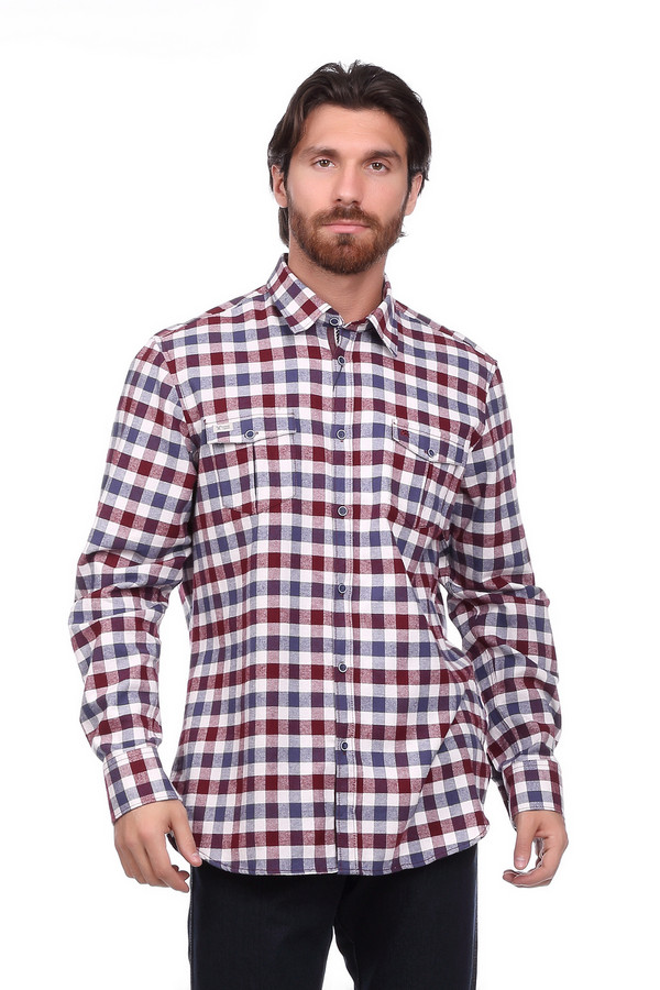 Рубашка с длинным рукавом LerrosДлинный рукав<br><br><br>Размер RU: 50-52<br>Пол: Мужской<br>Возраст: Взрослый<br>Материал: хлопок 100%<br>Цвет: Разноцветный