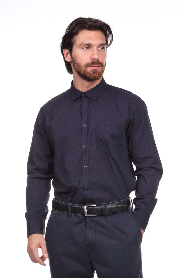 Рубашка с длинным рукавом CalamarДлинный рукав<br><br><br>Размер RU: 39-40<br>Пол: Мужской<br>Возраст: Взрослый<br>Материал: хлопок 100%<br>Цвет: Фиолетовый