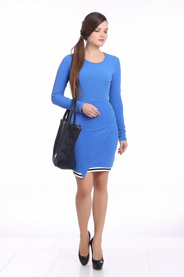 Платье Gaudi JeansПлатья<br><br><br>Размер RU: 42<br>Пол: Женский<br>Возраст: Взрослый<br>Материал: эластан 5%, полиэстер 95%, Состав_2 полиэстер 78%, Состав_2 эластан 22%<br>Цвет: Голубой