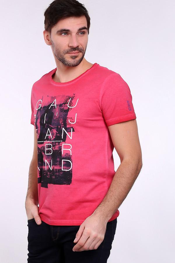 Футболкa Gaudi JeansФутболки<br><br><br>Размер RU: 48<br>Пол: Мужской<br>Возраст: Взрослый<br>Материал: хлопок 100%<br>Цвет: Розовый