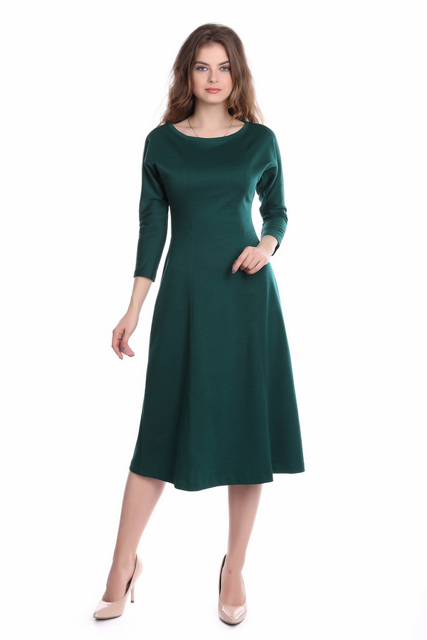 Платье ArgentПлатья<br><br><br>Размер RU: 42<br>Пол: Женский<br>Возраст: Взрослый<br>Материал: полиэстер 30%, вискоза 65%, лайкра 5%<br>Цвет: Зелёный