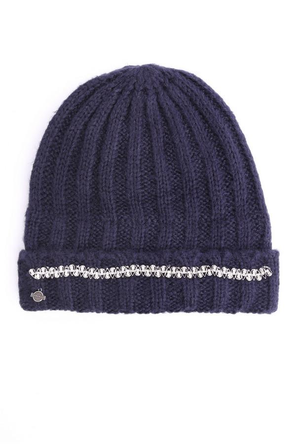 женская шапка seeberger, синяя