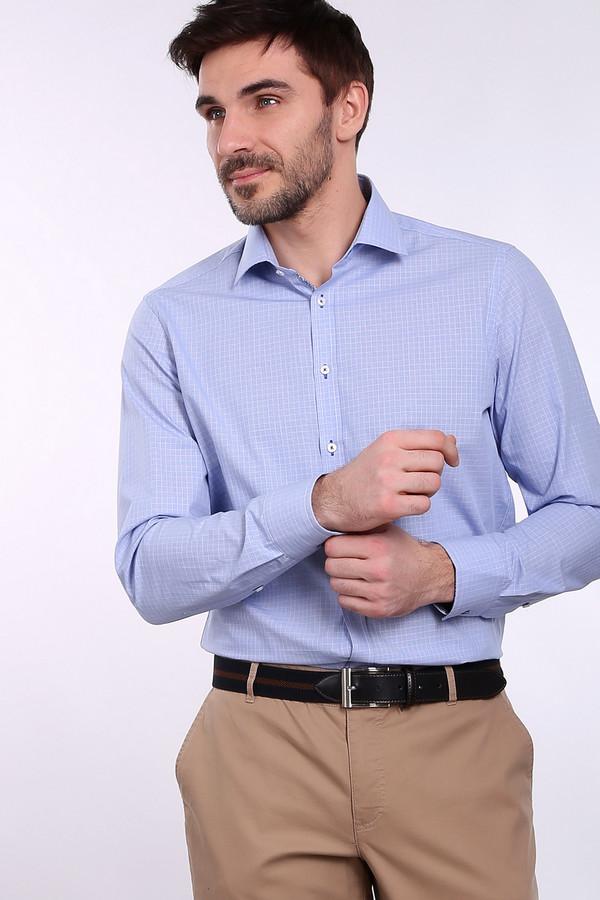 Рубашка с длинным рукавом VentiДлинный рукав<br><br><br>Размер RU: 45<br>Пол: Мужской<br>Возраст: Взрослый<br>Материал: хлопок 100%<br>Цвет: Голубой