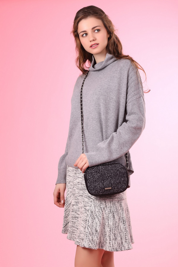 Пуловер OuiПуловеры<br><br><br>Размер RU: 42<br>Пол: Женский<br>Возраст: Взрослый<br>Материал: шерсть 50%, полиамид 30%, модал 20%<br>Цвет: Серый