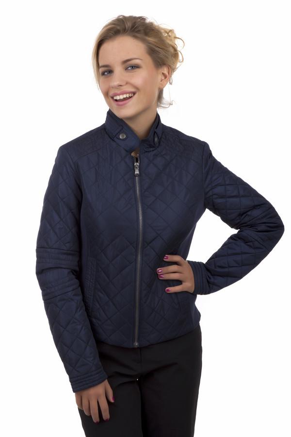 Куртка LerrosКуртки<br>Стеганая куртка Lerros представлена в двух цветах, насыщенный синий и терпкое бордо. Модель дополнена воротником стойкой с ремешком на кнопках, двумя боковыми карманами с застежкой - кнопка и трикотажными вставками по бокам изделия. Куртка застегивается на центральную молнию. Внизу рукава с обеих сторон расположены застежки-кнопки позволяющие менять размер манжет. Удачная расцветка изделия сочетается практически с любыми цветами. Куртка безупречно будет смотреться с брюками марки  Gardeur  .<br><br>Размер RU: 42<br>Пол: Женский<br>Возраст: Взрослый<br>Материал: нейлон 100%<br>Цвет: Синий