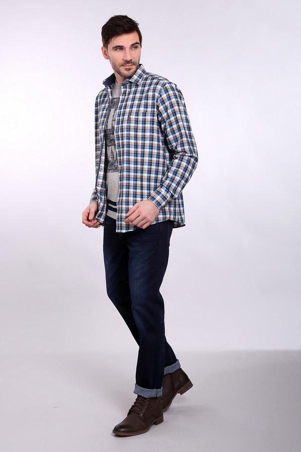 Рубашка с длинным рукавом Casa ModaДлинный рукав<br><br><br>Размер RU: 41-42<br>Пол: Мужской<br>Возраст: Взрослый<br>Материал: хлопок 100%<br>Цвет: Разноцветный
