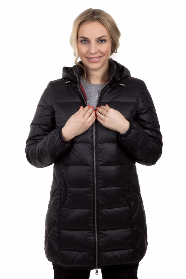 Пальто LerrosПальто<br>Приталенная куртка Lerros c отстёгивающимся капюшоном. Представлена в двух цветах, небесно-синий и графитно - черный. Длина до середины бедра. Центральная часть изделия застегивается на молнию, модель дополнена двумя боковыми карманами. Манжеты, нижний кант и карманы оформлены эластичной текстильной окантовкой в цвет. На левом рукаве расположена нашивка.  Изделие выполнено из высококачественного материала.  В качестве подкладки использован легкий материал 100% полиэстер.  Утеплитель 80% пух, 20% перо.<br><br>Размер RU: 46<br>Пол: Женский<br>Возраст: Взрослый<br>Материал: вискоза 100%<br>Цвет: Чёрный