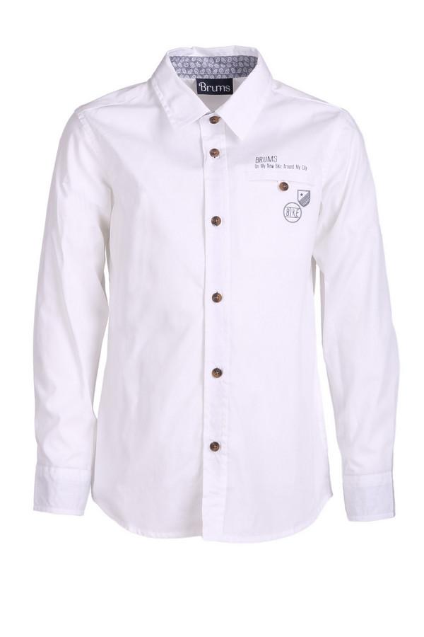 Рубашка BrumsРубашки<br><br><br>Размер RU: 28;104<br>Пол: Мужской<br>Возраст: Детский<br>Материал: см. на вшивном ярлыке 0%<br>Цвет: Белый