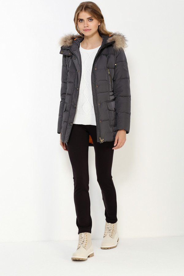 Куртка FINN FLAREКуртки<br><br><br>Размер RU: 54<br>Пол: Женский<br>Возраст: Взрослый<br>Материал: полиэстер 100%, Состав_наполнитель пух 90%, Состав_наполнитель перо 10%<br>Цвет: Серый