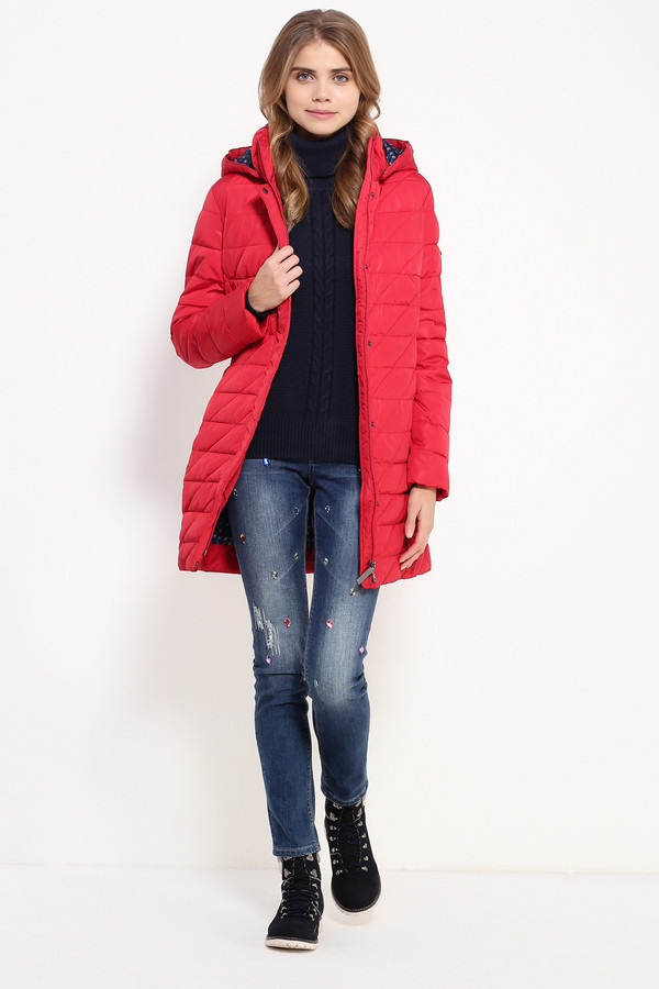 Пальто FINN FLAREПальто<br><br><br>Размер RU: 48<br>Пол: Женский<br>Возраст: Взрослый<br>Материал: полиэстер 100%, Состав_подкладка полиэстер 100%, Состав_наполнитель полиэстер 100%<br>Цвет: Красный