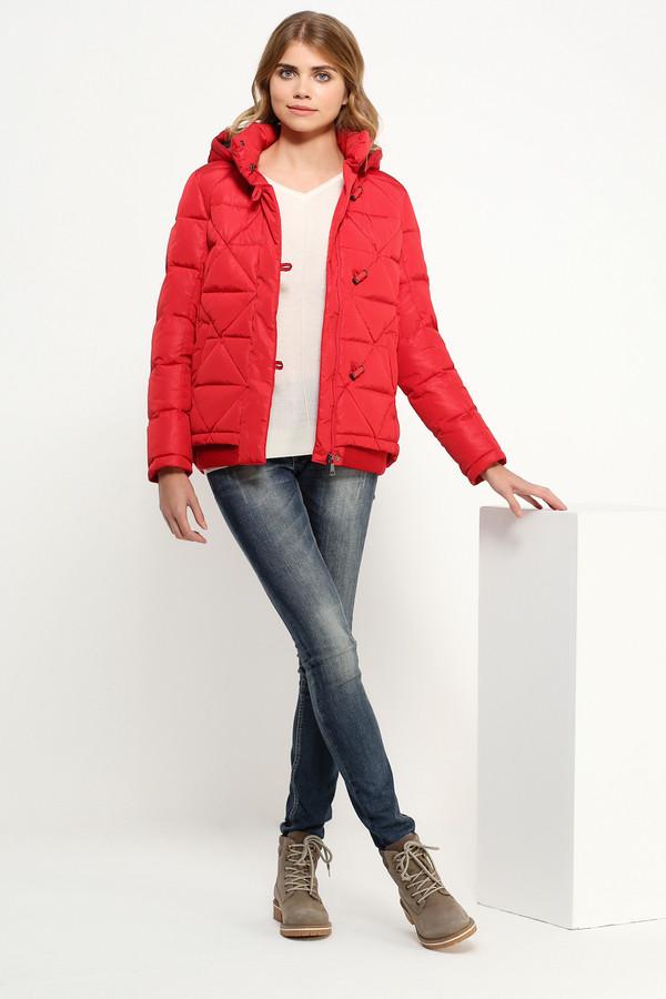 Куртка FINN FLAREКуртки<br><br><br>Размер RU: 46<br>Пол: Женский<br>Возраст: Взрослый<br>Материал: полиэстер 100%, Состав_подкладка полиэстер 100%, Состав_наполнитель пух 90%, Состав_наполнитель перо 10%<br>Цвет: Красный