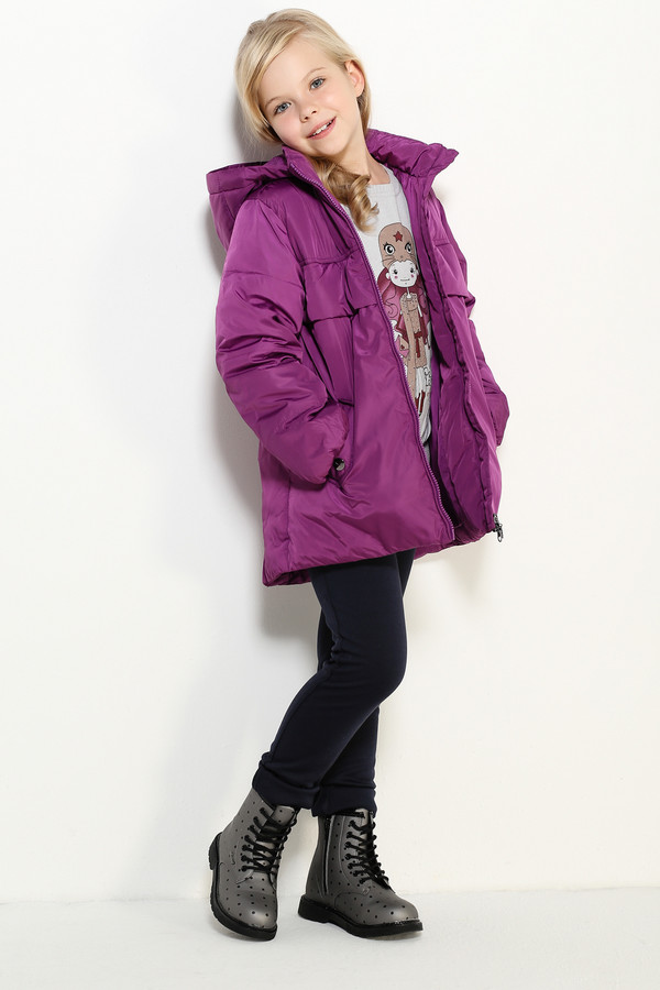 Куртка FINN FLAREКуртки<br><br><br>Размер RU: 28;110<br>Пол: Женский<br>Возраст: Детский<br>Материал: полиэстер 100%, Состав_подкладка полиэстер 100%, Состав_наполнитель полиэстер 100%<br>Цвет: Розовый