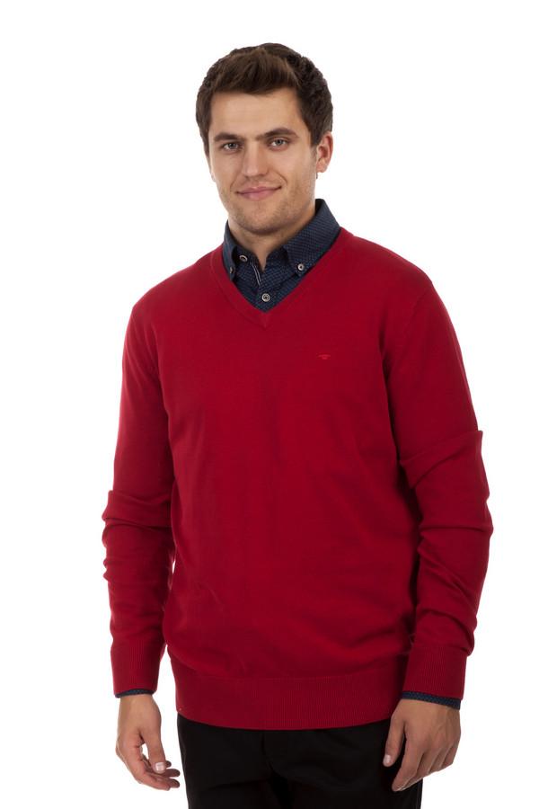 Джемпер Tom TailorДжемперы<br>Однотонный мужской джемпер от бренда Tom Tailor прямого кроя выполнен из трикотажа красного цвета. Изделие дополнено: v-образным вырезом и длинными рукавами. Ворот, манжеты и нижний кант оформлены вязанной эластичной резинкой.<br><br>Размер RU: 48-50<br>Пол: Мужской<br>Возраст: Взрослый<br>Материал: хлопок 100%<br>Цвет: Красный
