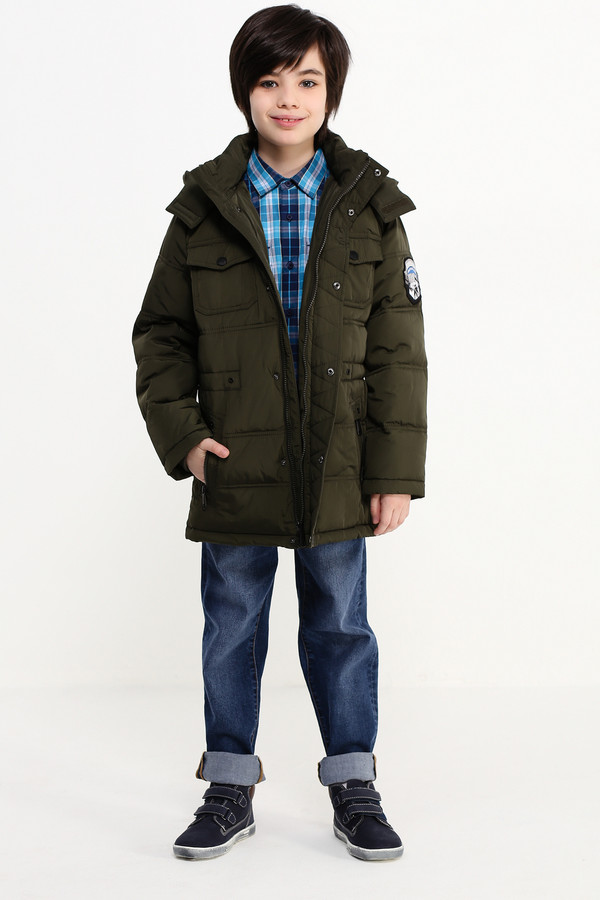 Куртка FINN FLAREКуртки<br><br><br>Размер RU: 30;122<br>Пол: Мужской<br>Возраст: Детский<br>Материал: полиэстер 100%, Состав_подкладка полиэстер 100%, Состав_наполнитель полиэстер 100%<br>Цвет: Зелёный