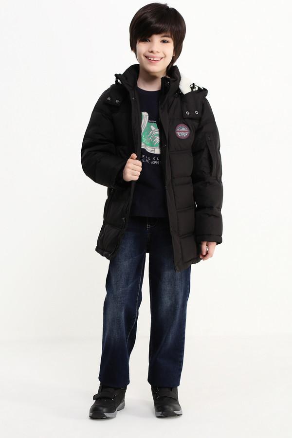 Куртка FINN FLAREКуртки<br><br><br>Размер RU: 30;122<br>Пол: Мужской<br>Возраст: Детский<br>Материал: полиэстер 100%, Состав_подкладка полиэстер 100%, Состав_наполнитель пух 80%, Состав_наполнитель перо 20%<br>Цвет: Чёрный