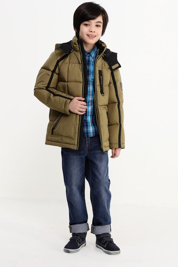 Куртка FINN FLAREКуртки<br><br><br>Размер RU: 40<br>Пол: Мужской<br>Возраст: Детский<br>Материал: полиэстер 100%, Состав_подкладка полиэстер 100%, Состав_наполнитель пух 80%, Состав_наполнитель перо 20%<br>Цвет: Зелёный