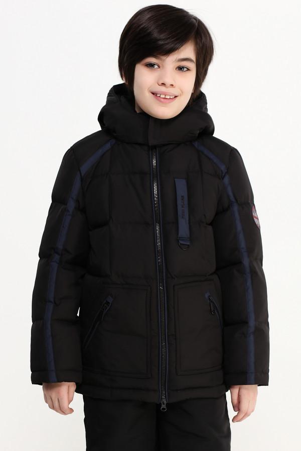 Куртка FINN FLAREКуртки<br><br><br>Размер RU: 34;134<br>Пол: Мужской<br>Возраст: Детский<br>Материал: полиэстер 100%, Состав_подкладка полиэстер 100%, Состав_наполнитель пух 80%, Состав_наполнитель перо 20%<br>Цвет: Чёрный