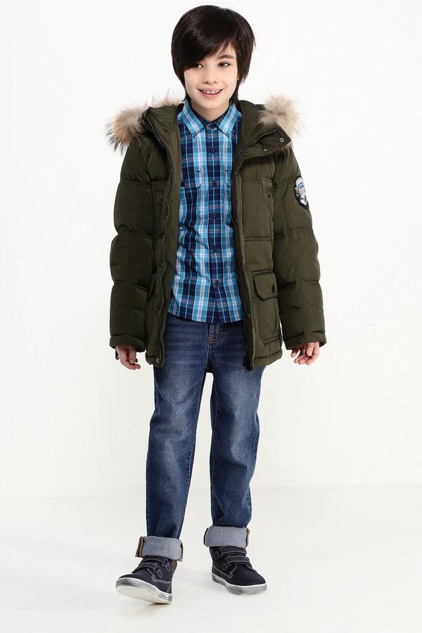 Куртка FINN FLAREКуртки<br><br><br>Размер RU: 38<br>Пол: Мужской<br>Возраст: Детский<br>Материал: полиэстер 100%, Состав_подкладка полиэстер 100%, Состав_наполнитель пух 80%, Состав_наполнитель перо 20%<br>Цвет: Зелёный