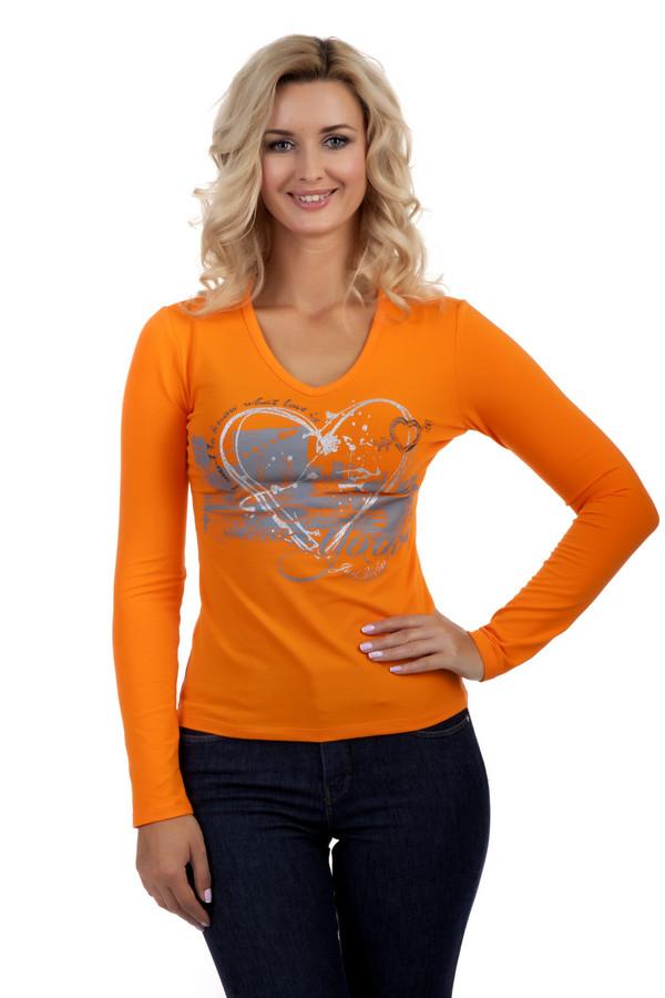 Лонгслив Just ValeriЛонгсливы<br>Яркий оранжевый лонгслив Just Valeri прилегающего кроя. Изделие дополнено: v-образным вырезом и длинными рукавами. Зона декольте оформлена стильным принтом.<br><br>Размер RU: 50<br>Пол: Женский<br>Возраст: Взрослый<br>Материал: хлопок 95%, спандекс 5%<br>Цвет: Оранжевый