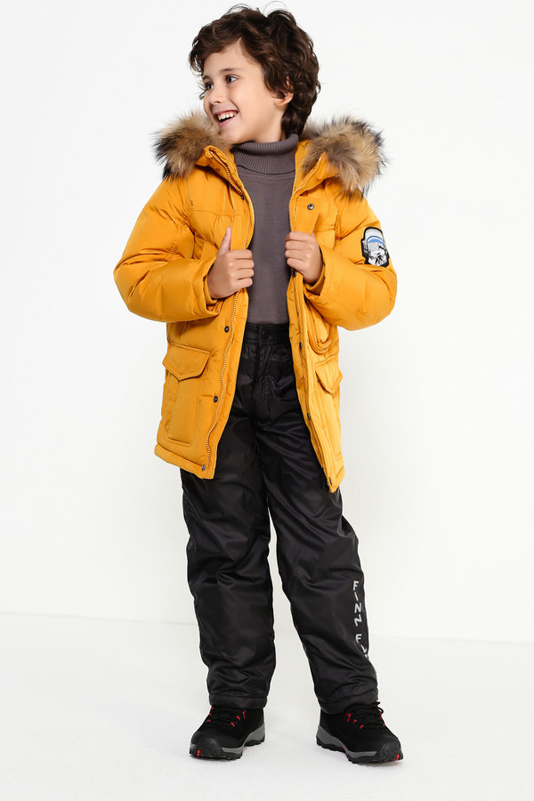 Куртка FINN FLAREКуртки<br><br><br>Размер RU: 40<br>Пол: Мужской<br>Возраст: Детский<br>Материал: полиэстер 100%, Состав_подкладка полиэстер 100%, Состав_наполнитель пух 80%, Состав_наполнитель перо 20%<br>Цвет: Жёлтый