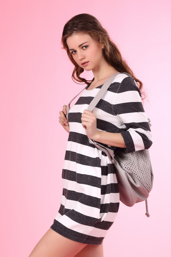 Платье OuiПлатья<br><br><br>Размер RU: 42<br>Пол: Женский<br>Возраст: Взрослый<br>Материал: эластан 4%, хлопок 45%, полиамид 9%, вискоза 42%<br>Цвет: Серый