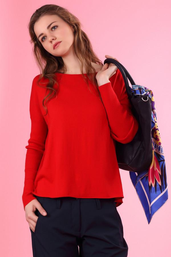 Пуловер OuiПуловеры<br><br><br>Размер RU: 50<br>Пол: Женский<br>Возраст: Взрослый<br>Материал: кашемир 5%, вискоза 30%, шелк 10%, хлопок 55%<br>Цвет: Красный