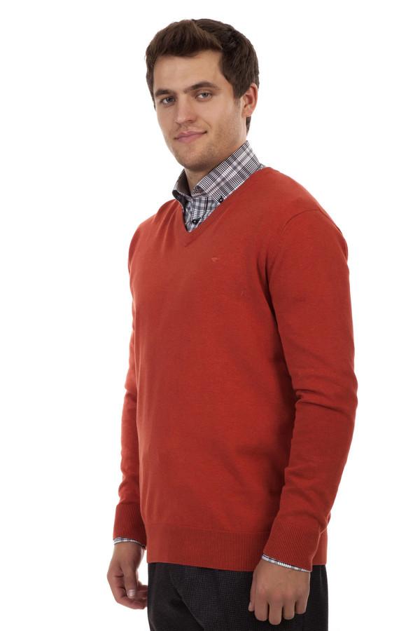 Джемпер Tom TailorДжемперы<br>Однотонный мужской джемпер от бренда Tom Tailor прямого кроя выполнен из трикотажа оранжевого цвета. Изделие дополнено: v-образным вырезом и длинными рукавами. Ворот, манжеты и нижний кант оформлены вязанной эластичной резинкой.<br><br>Размер RU: 48-50<br>Пол: Мужской<br>Возраст: Взрослый<br>Материал: хлопок 100%<br>Цвет: Оранжевый