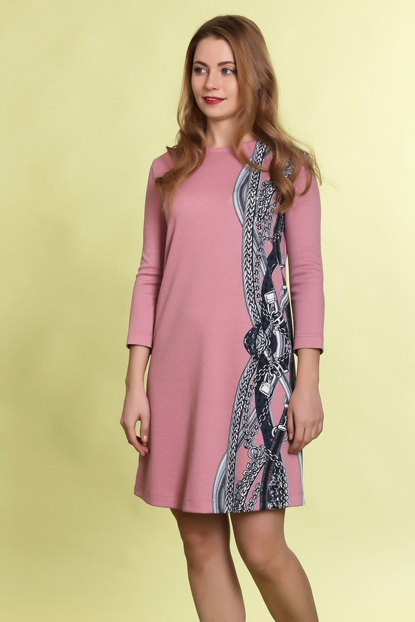 Платье MammySizeПлатья<br><br><br>Размер RU: 46<br>Пол: Женский<br>Возраст: Взрослый<br>Материал: эластан 5%, полиэстер 55%, вискоза 40%<br>Цвет: Розовый
