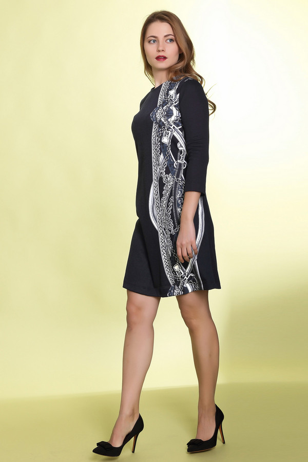 Платье MammySizeПлатья<br><br><br>Размер RU: 46<br>Пол: Женский<br>Возраст: Взрослый<br>Материал: эластан 5%, полиэстер 55%, вискоза 40%<br>Цвет: Чёрный