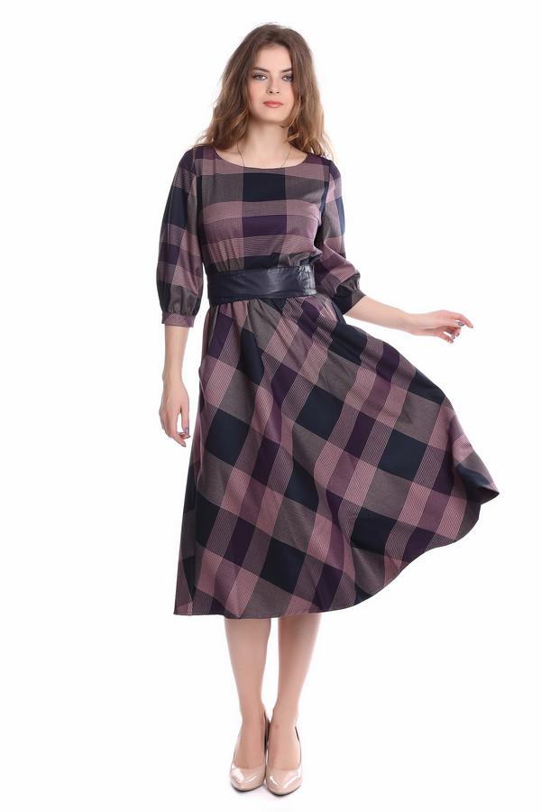 Платье ArgentПлатья<br><br><br>Размер RU: 52<br>Пол: Женский<br>Возраст: Взрослый<br>Материал: полиэстер 30%, вискоза 65%, лайкра 5%<br>Цвет: Разноцветный