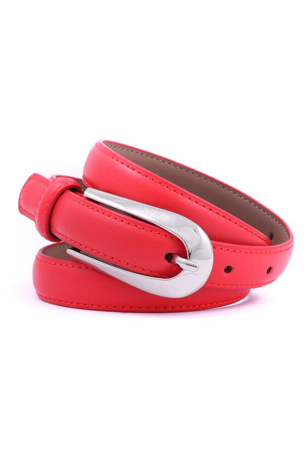 Ремень PezzoРемни<br><br><br>Размер RU: 46<br>Пол: Женский<br>Возраст: Взрослый<br>Материал: кожа 100%<br>Цвет: Красный