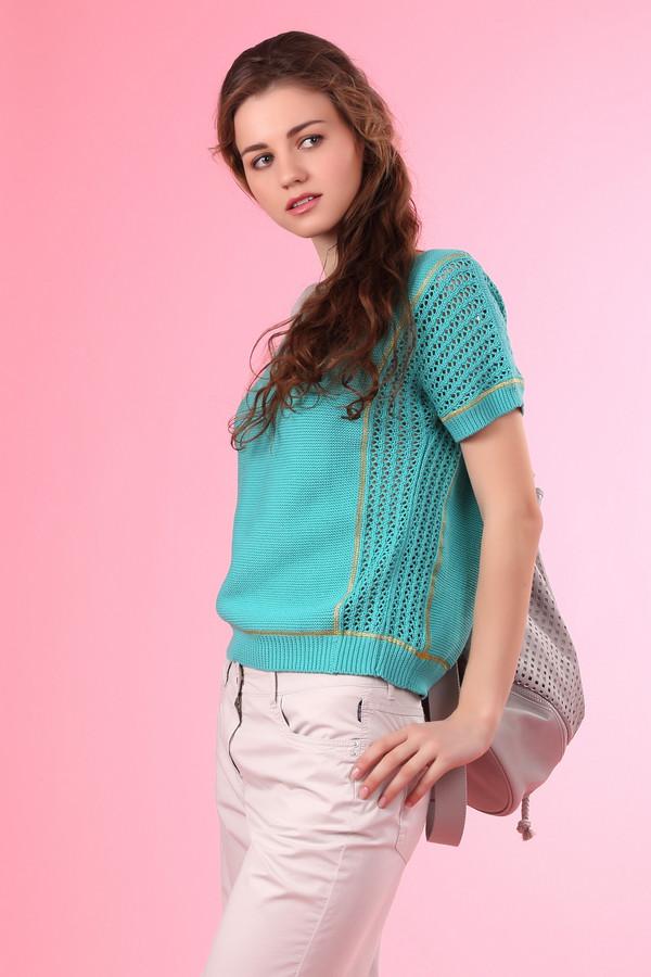 Пуловер PassportПуловеры<br><br><br>Размер RU: 44<br>Пол: Женский<br>Возраст: Взрослый<br>Материал: хлопок 100%<br>Цвет: Зелёный