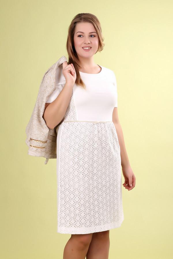 Платье Eugen KleinПлатья<br><br><br>Размер RU: 44<br>Пол: Женский<br>Возраст: Взрослый<br>Материал: полиамид 26%, хлопок 74%<br>Цвет: Белый