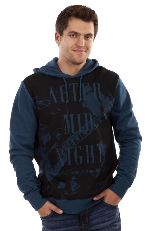 Толстовка Tom TailorТолстовки<br>Мужская толстовка темно-синего цвета об бренда Tom Tailor прямого кроя выполнена из плотного хлопкового материала. Изделие дополнено: капюшоном с завязками и длинными рукавами. Толстовка оформлена черно-синего фотопринтом с гитарой и надписями.<br><br>Размер RU: 48-50<br>Пол: Мужской<br>Возраст: Взрослый<br>Материал: хлопок 100%<br>Цвет: Разноцветный