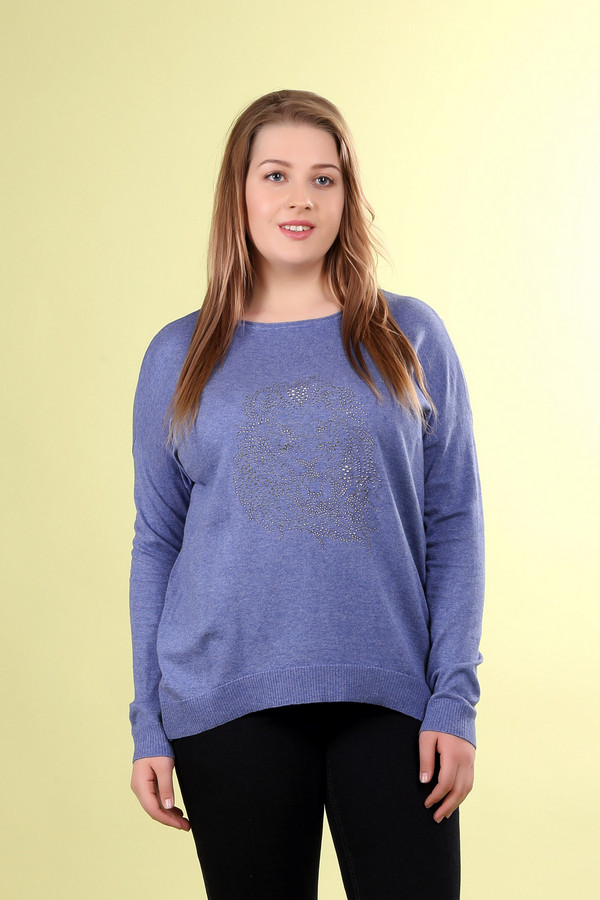 Пуловер Gerry WeberПуловеры<br><br><br>Размер RU: 52<br>Пол: Женский<br>Возраст: Взрослый<br>Материал: шелк 10%, хлопок 70%, лен 20%<br>Цвет: Синий